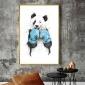 可定做简约现代客厅装饰画画芯方便安装可爱动物无纺布装饰画画芯